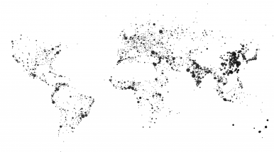 World and dots